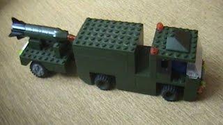 Военная машина с прицепом из LEGO