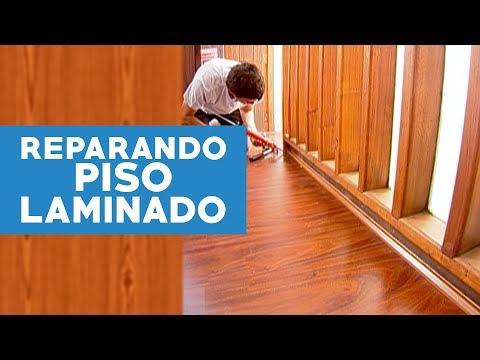 Cmo reparar un piso laminado hmedo  YouTube