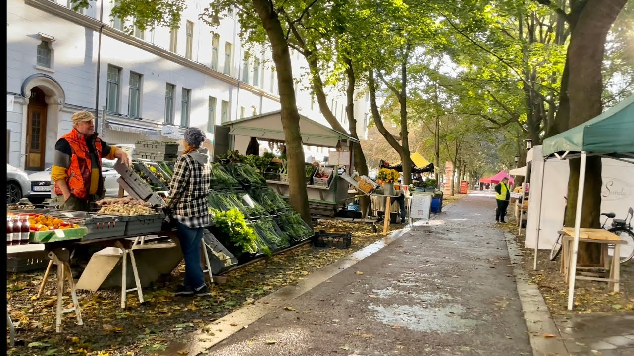 Download Stockholm Walks: the Farmer's market on a Saturday morning. Life in Sweden.
