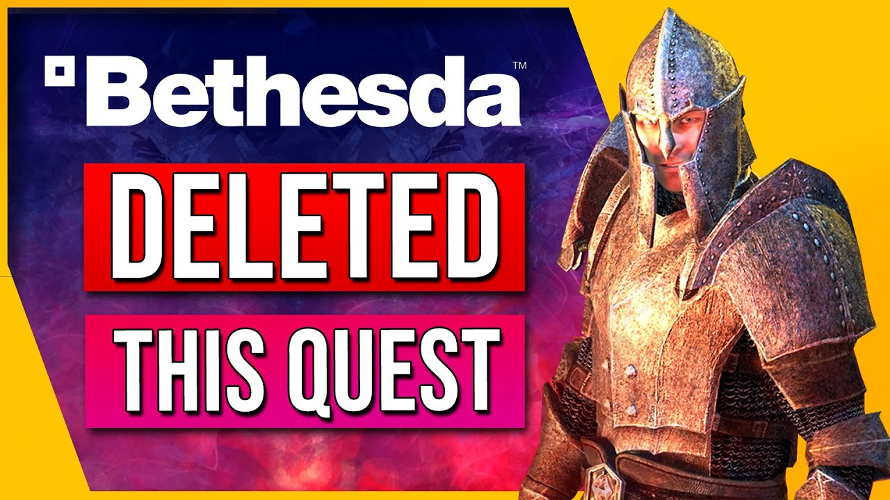 Why Did Bethesda REMOVE This Quest From The Elder Scrolls Oblivion?