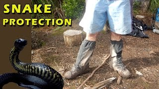 Leg Protection from Snakes, Hiking Boots and Waterproof Gaiters thumbnail