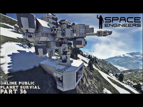 "Space Engineers: Online Public Planet Survival Part 36 ""Landfalll"""