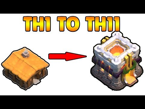 Thumbnail: New COC TH1 To TH11 Max Within 20 Minutes 2017