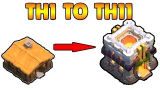 Clash of Clans TH1 Om TH11 Max binnen 20 minuten 2017
