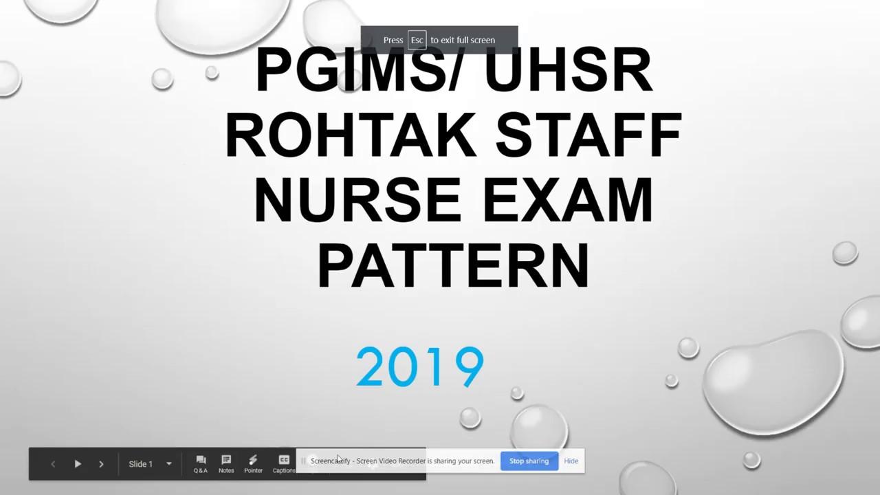 pgi rohtak Exam Syllabus pattern 2019