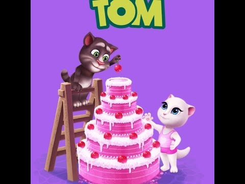 Talking Tom Cat tower of cakes YouTube