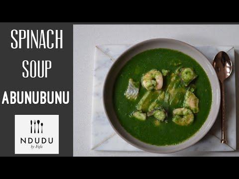TASTIEST SPINACH & SEAFOOD SOUP RECIPE (ABUNUBUNU FROM GHANA)