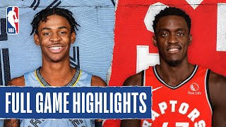 GRIZZLIES at RAPTORS | FULL GAME HIGHLIGHTS | August 9, 2020