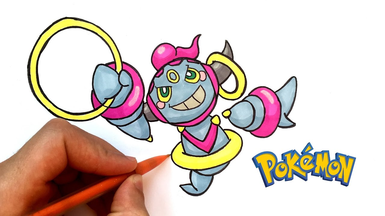 Dessin hoopa pok mon youtube - Dessin facile de pokemon ...