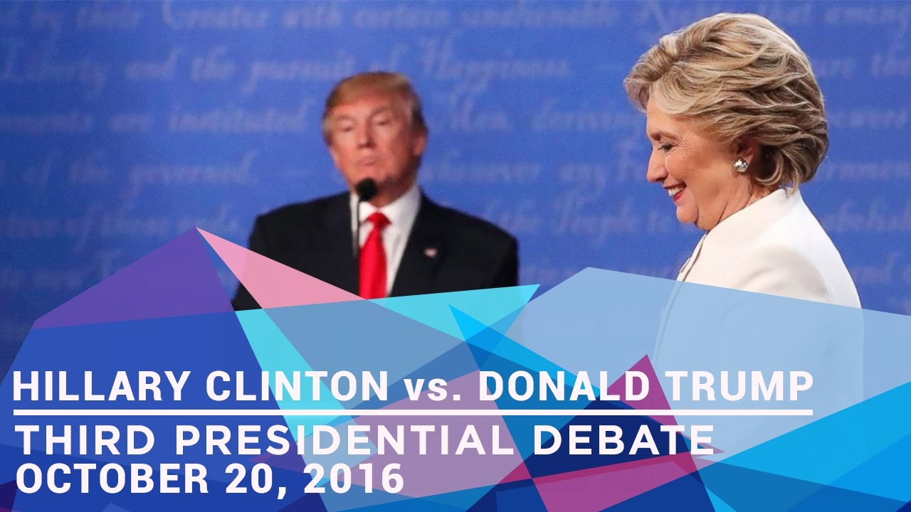 Third & Final Presidential Debate ( With Subtitles ), 2016 | Hillary Clinton vs. Donald Trump
