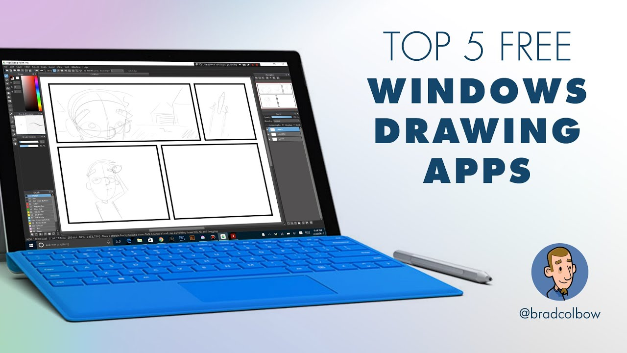 Testing 5 free windows drawing apps youtube Drawing programs for windows