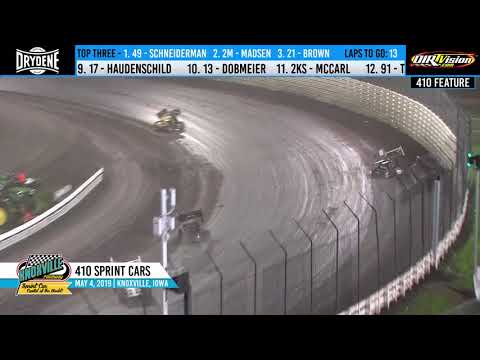 Knoxville Raceway 410 Highlights - May 4, 2019