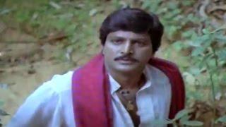 Alludugaru Movie || Mohan Babu Escaping Satyanarayana Scene || Mohan Babu, Shobana
