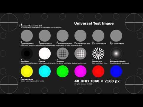 TobyFree.com - 4K UHD Test Pattern H.264 MP4