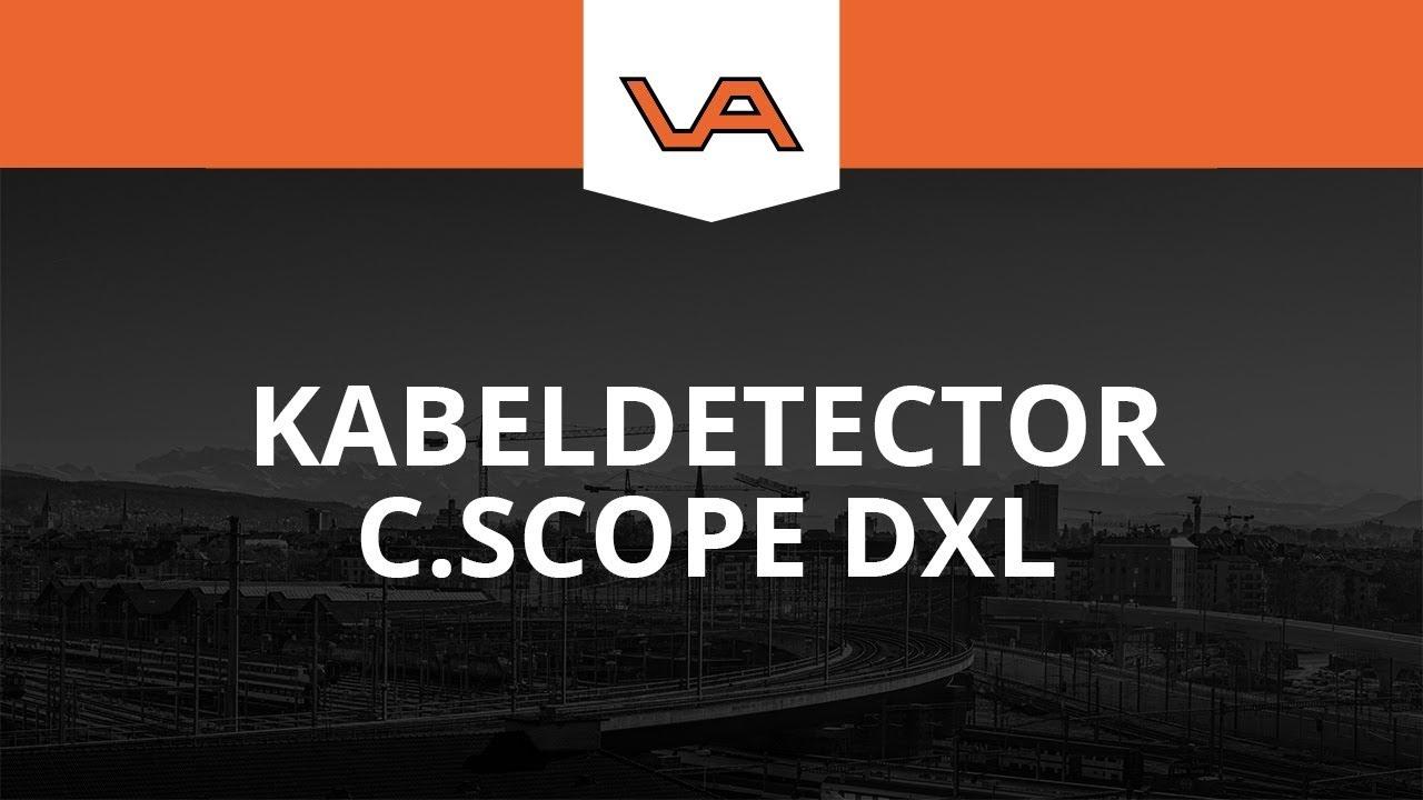 kabeldetector c scope dxl bij bouwlaser.nl - youtube