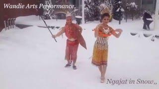 Ngajat Iban In Snow  Wandie Arts