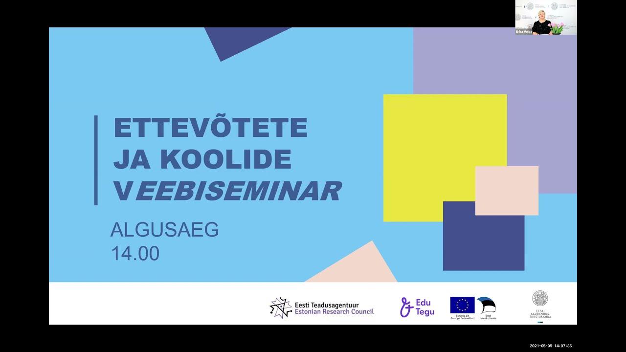 Ettevõtete ja koolide virtuaalne koostööseminar 5.05.2021