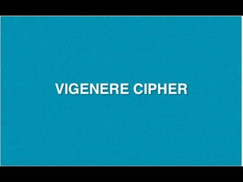 Vigenere Cipher : Type of Encryption Decryption Method | Poly-alphabetic Substitution Cryptography