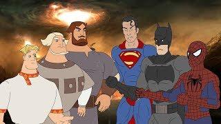 Скачать Эпохальное мочилово Богатыри против Супергероев