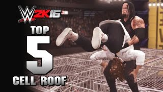 WWE 2K16 : Top 5 Holy Cow Cell Roof Moments