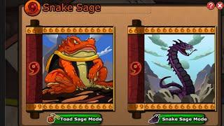 Ninja Saga [ Tutor Exam Rewards ] [ New Sage Mode Preview ] Senjutsu Toad Mode Or Snake Mode ?