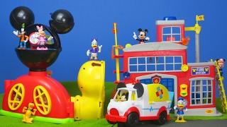 Micky Maus Wunderhaus: Feuerwehrmann Spielzeugautos & Krankenwagen | Disney Unboxing deutsch