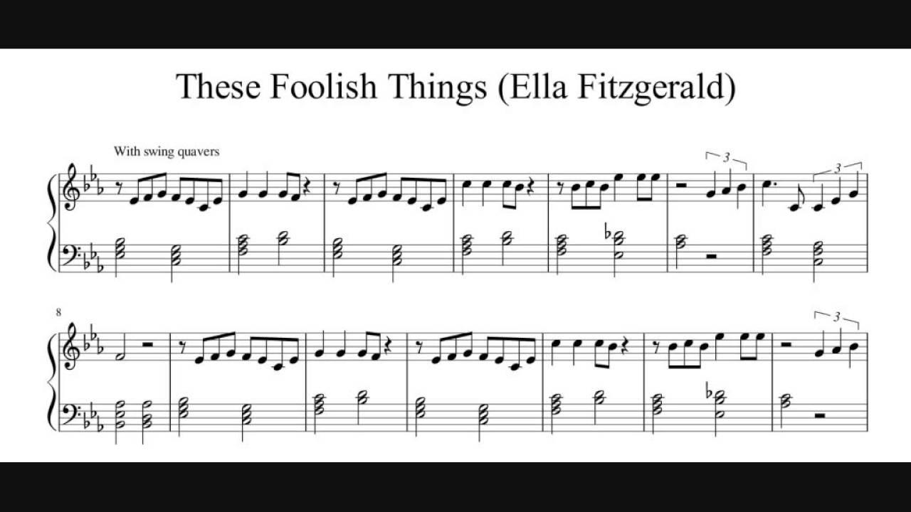 my foolish heart piano pdf