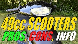 49cc / 50cc Scooter Info, Pros, Cons, & Expectations (Moped)