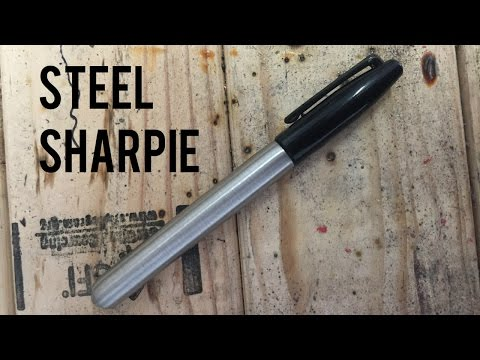 How to Make a Steel Sharpie (without a lathe) - DIY