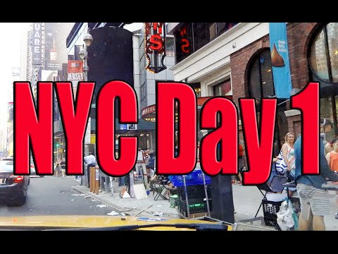 New York City Day 1 | Flight, Crowne Plaza, Times Square, Brooklyns Diner