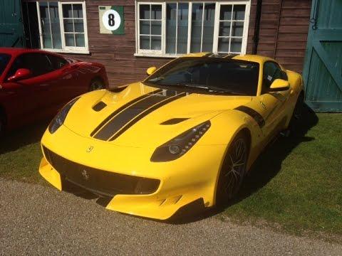 2x Ferrari TDF in Yellow at Auto Italia 2016 !!!