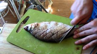 Как пожарить карася или леща без костей? How to fry carp or bream off the bone?
