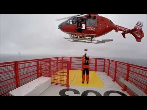 Helicopter Wind Farm Transfer - Westermost Rough