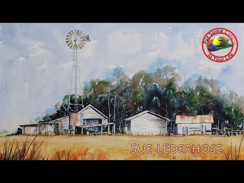 Fine art tips on How to Paint Watercolour Landscapes with Sue Lederhose on Colour In Your Life