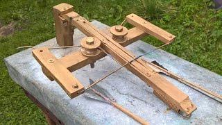 Изготовление арбалета обратной конструкции и тест (как у Кулибин ТВ)