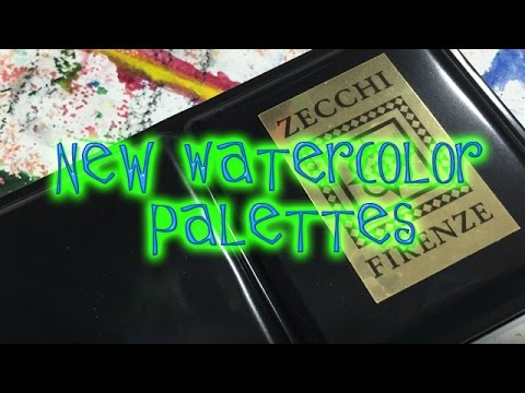 New Watercolor Palettes Part Two Zecchi Firenze