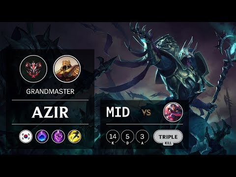 Azir Mid vs Irelia - KR Grandmaster Patch 9.20