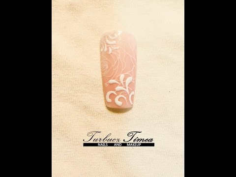 Stamping nail art tutorial with 3D design