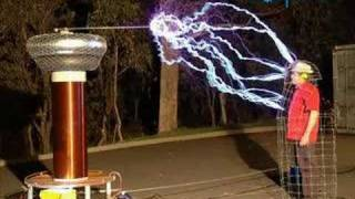 fun with a giant tesla coil