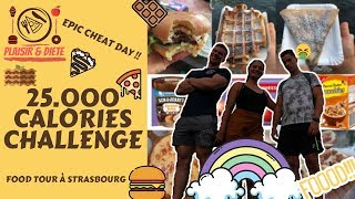 25,000 CALORIE CHALLENGE | EPIC CHEAT DAY | MAN vs FOOD #Foodchallenge