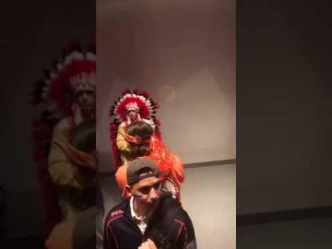 White Man in Red Face - Chief Illiniwek
