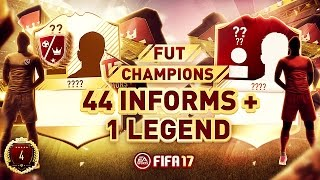One of Huge Gorilla's most viewed videos: 44 INFORMS + 1 LEGEND FUT CHAMPIONS REWARDS PACK OPENING | FIFA 17 ULTIMATE TEAM