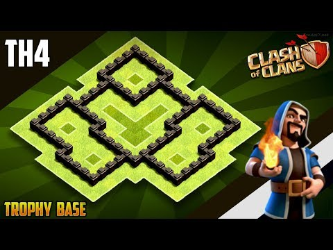 New BEST Town Hall 4 (TH4) WAR/TROPHY Base 2019!! COC Th4 War Base Design [DEFENCE] - Clash Of CLans