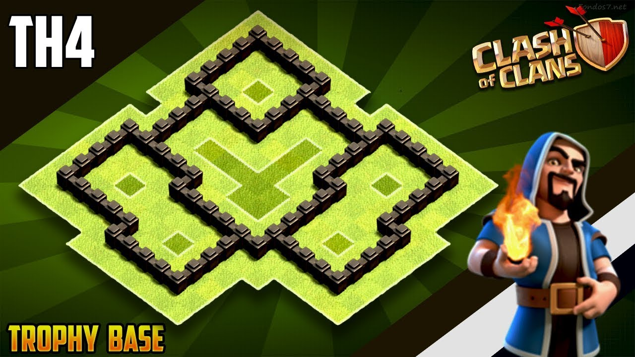 New BEST Town Hall 4 (TH4) WAR/TROPHY Base 2019!! COC Th4 War Base Design [DEFENCE] – Clash of CLans