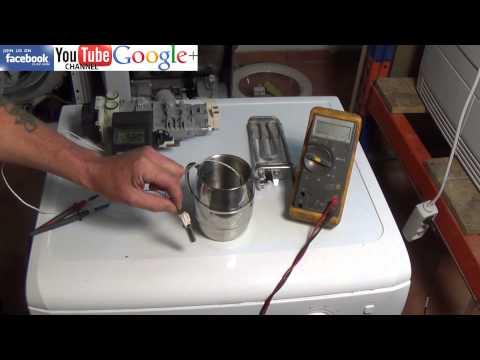 How to test a NTC Sensor washing machine Tumble Dryer