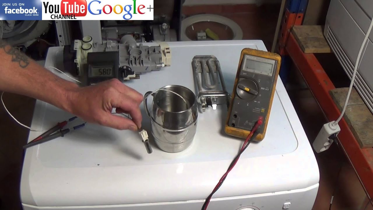 How a Dishwasher NTC thermistor Sensor works & how to test it