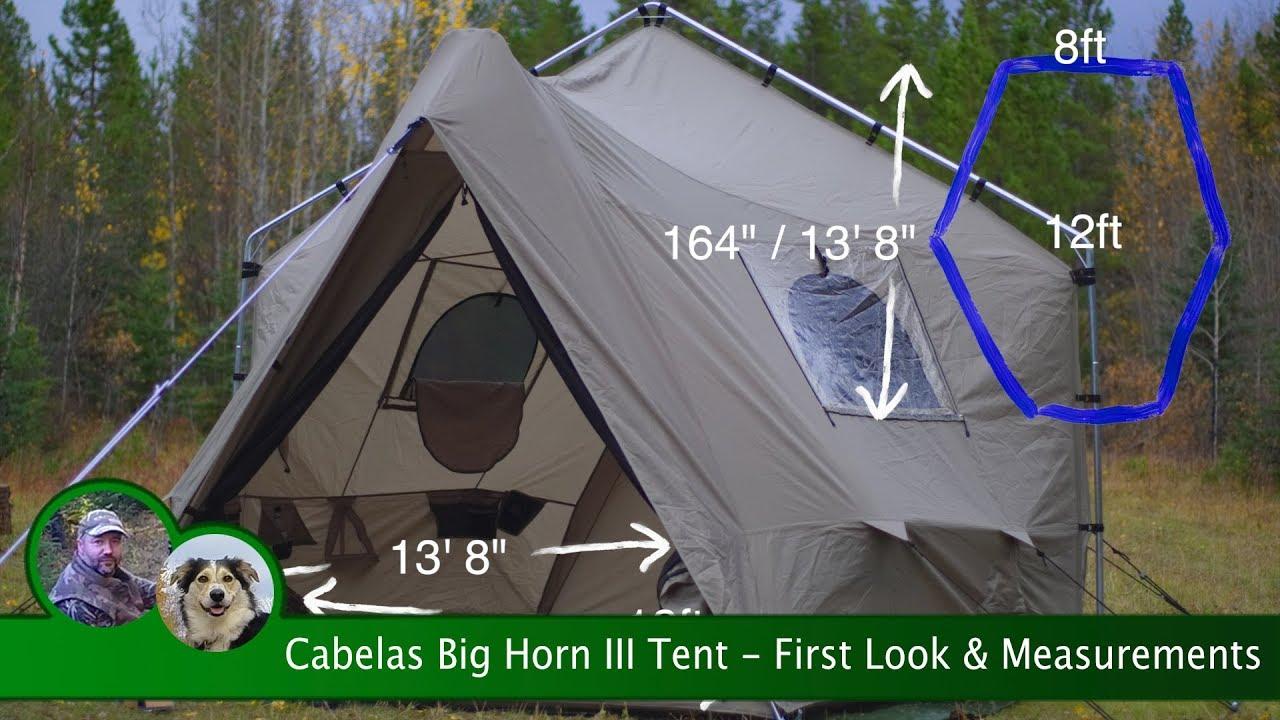 Cabelas Big Horn III Tent - First Look u0026 Measurements & Cabelas Big Horn III Tent - First Look u0026 Measurements - YouTube