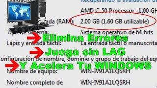 Como puedo acelerar mi PC o Laptop 100% Al Máximo | Win.XP, 7, 8, 8.1 y 10 | GARANTIZADO Octubre