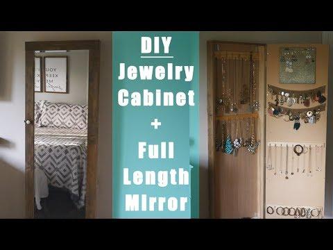 DIY: Custom Jewelry Cabinet + Mirror