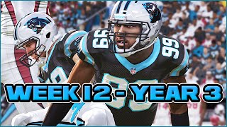 Madden 15 Panthers Connected Franchise - Week 12 vs Cardinals (Season 3)